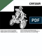 Manual Crf 250 r