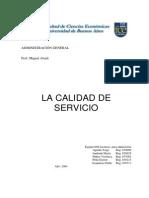 La Calidad de Servicio