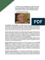 Biografía Del Poeta Guillermo de León Calles