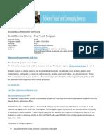 social service worker - descrip from website