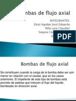 Bombas de Flujo Axial.