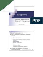 10 Binomial e Hipergeometrica