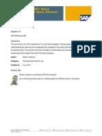 Understanding BEx Query Designer- Part-5 Query Element Properties