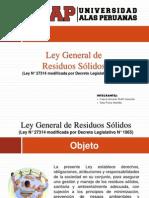 Ley General de Residuos Solidos.