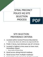 Precinct Site Selection Report