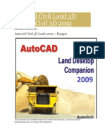 Autocad Civil Land 3D 2009 y Civil 3D 2012 Manual