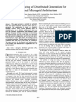 Siting and sizing of distributed generation for optimal microgrid architecture
