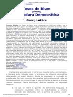 Teses de Blum (Extrato) a Ditadura Democrática