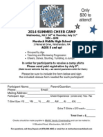 2014 July Cheer Camp Forms