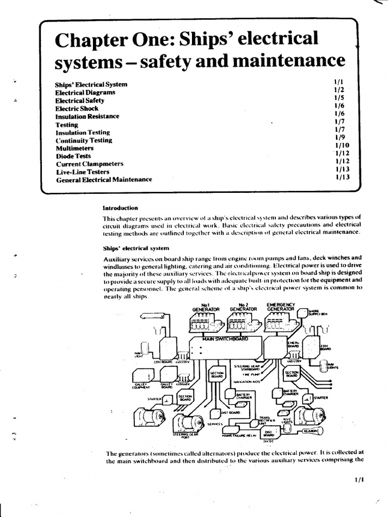 Chapter 1 Ships Electrical Systems Safety & Maintenance ...