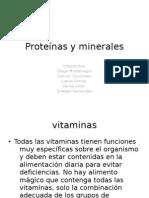 Proteínas y minerales