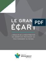 Rapport Le grand écart (Institut Broadbent)