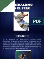Diapositivas de Realidad Nacional (Centralismo y Regionalismo)