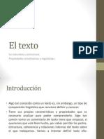 El Texto. Su Naturaleza y Estructura - Clase 05