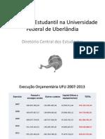 Assistência Estudantil Na Universidade Federal de Uberlândia