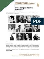 5 Arquitectos Influyentes de México
