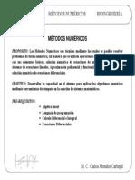 Temario y Contenido Metodos Numericos Bioingenieria