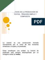 Sintaxis de La Produccion de Textos