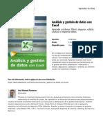 Analisis y Gestion de Datos Con Excel