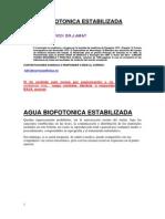 Agua Biofotonica Estabilizada