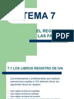 Tema 7 - El Registro de Facturas