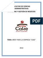Brief Para Una Empresa de Cupcakes