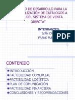 Proyecto de Desarrollo Para La Comercializacion de Catalogos a Traves de Venta Directa