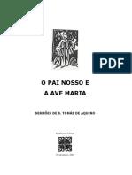 O Pai Nosso e a Ave Maria Sto Tomas de Aquino