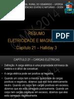 Eletricidade e Magnetismo - Resumo Cap. 21 - Halliday 3