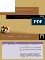 Campaign Proposals