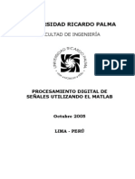 ProcesamientoDigitalSeñalesUtilizandoMatlab (Pedro Huamaní Navarrete)