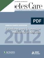 Estandares Para La Atencion Medica de La Diabetes 2012