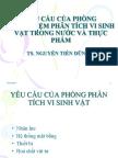 5.Cac Yeu Cau Cua PTN Vi Sinh - 2012