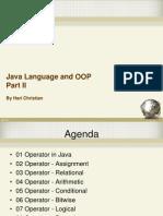 02 Java Language and OOP Part II