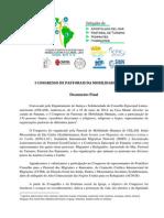 i Congresso de Pastorais Da Mobilidade Humana, Lac (Doc. Fi Nal Português)
