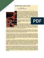 Historia Del Muay Thai