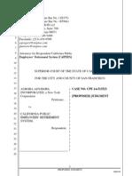 Aurora v. CalPERS Proposed Judgment (6.10.14)
