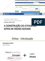 A Contrução do Ethos em Sites de Redes Sociais