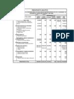 Presupuesto Analítico C.S. Huarango y El Porvenir