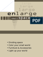How to enlarge small spaces- slides
