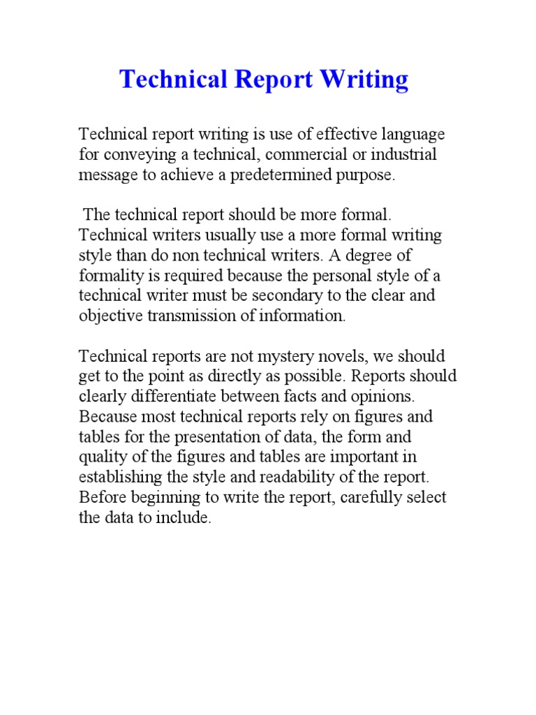 Technical Report Writing  Areas Of Computer Science  Applied