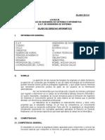 Sílabo Derecho Informatico 2013-II Unmsm