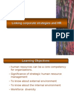 Linking Corporate Strategies and HR