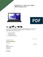 Sony Vaio Svs15125plb 15