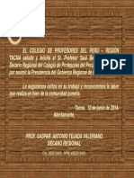 Saludos al Prof. Saúl Bermejo Paredes