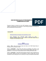 2009 Revised Rules of Procedure of Commission on Audit