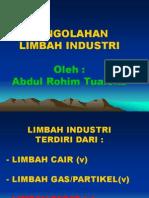 Pengolahan Limbah Industri 19-3-2012