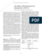studies on the effect of reinforcement of polypropylyne wit coir