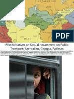 Session 5. Pilot initiatives on sexual harassment on public transport in Azerbaijan, Georgia and Pakistan
