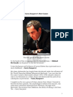 Garry Kasparov's Best Games